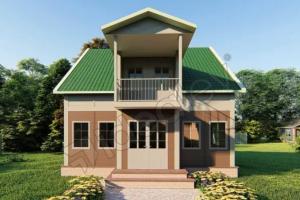 case modulare cu etaj